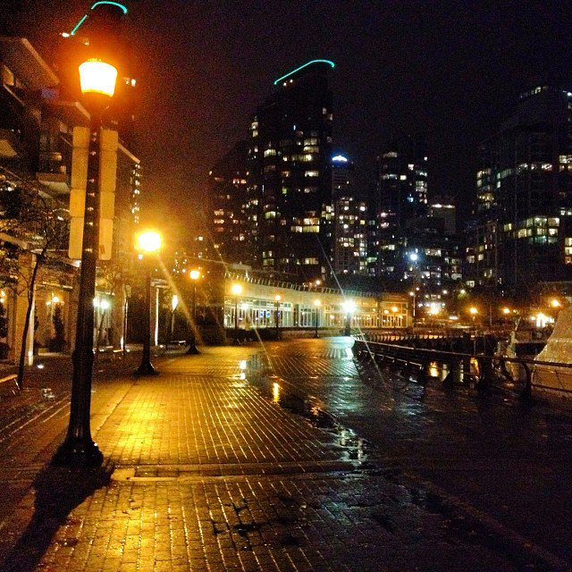 coal harbour  november  2nd vancouver coalharbour night