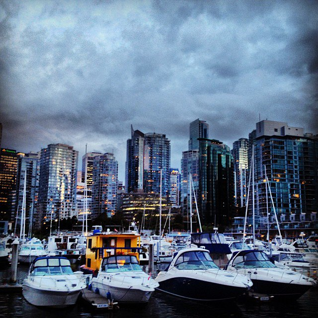 the evergreen building from another angle vancouver vanarch vancity coalhabour architecture sunset a