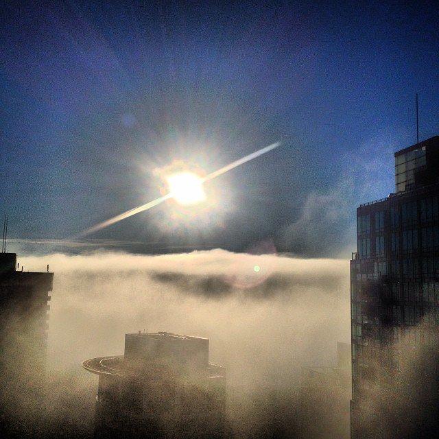 vancouver vanarch vancouverisawesome fogcouver fog sun coalharbour